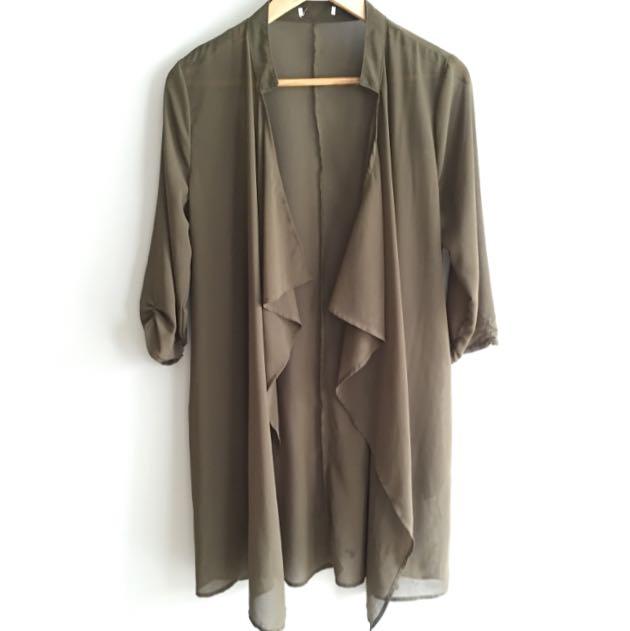 Khaki Sheer Jacket