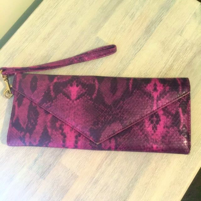 Marc Jacobs Pink Snakeskin Clutch