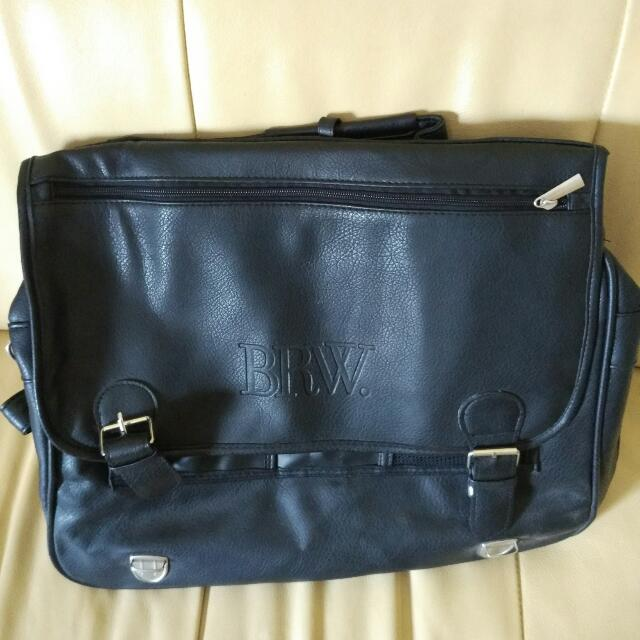 Men's Faux Leather Business Attaché Briefcase / Laptop Bag