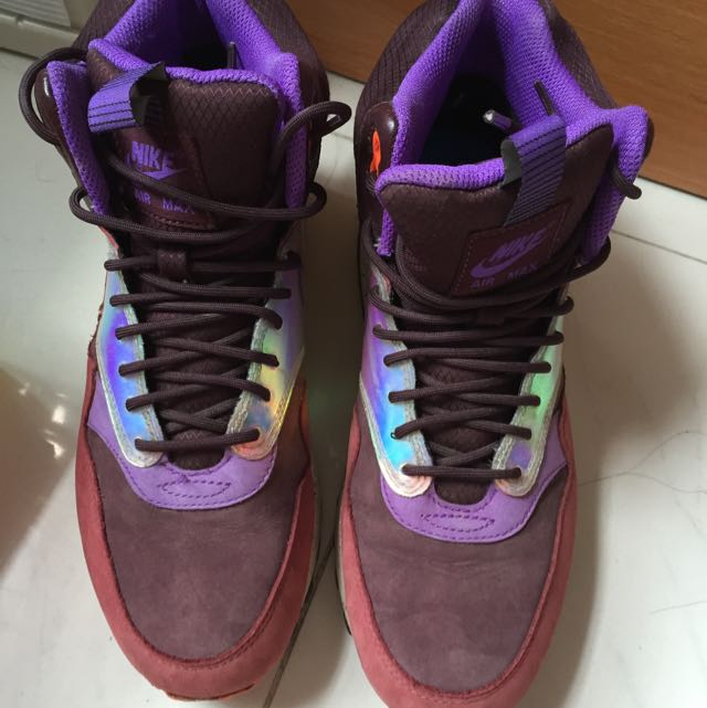 brand new 2d5bb 169b9 REAL  Nike Air Max 1 Mid Sneakerboots Waterproof, Women s Fashion on ...