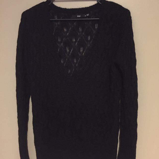 Sportsgirl Black Knit- Medium