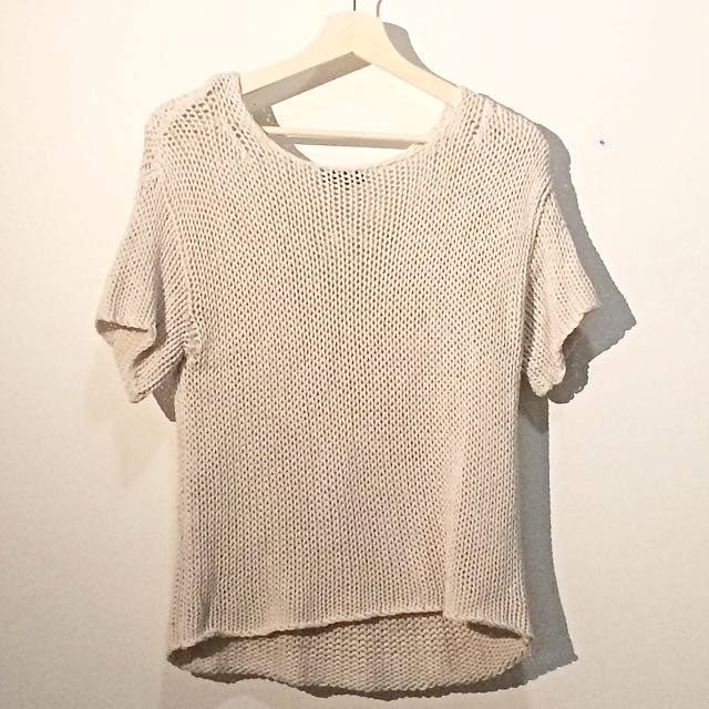 TOPSHOP Knit Short Sleeve Top