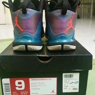 Nike JORDAN Super FLY 3X Orange Pink Purple