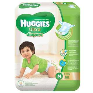Huggies Ultra Diapers Size M