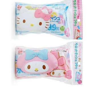 美樂蒂Kitty濕紙巾附蓋