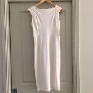 Bodycon White Midi Dress