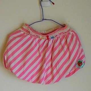 草莓條紋燈籠裙