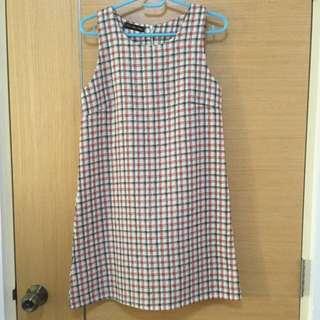 BN Checker Non-sleeve Tunic Dress