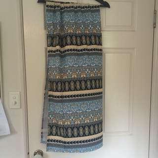 Long Skirt With Side Split
