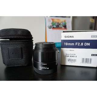 Used SIGMA 19mm F2.8 DN ART Lens (BLACK) for SONY E Mount