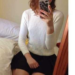 White Long Sleeved Knit