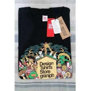 全新 Design Tshirts Store graniph 純棉黑色短T