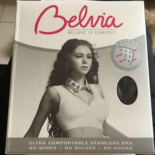 Belvia 貝薇雅 零束縛無痕蕾絲款內衣 黑