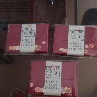 京都吸油面紙盒 內附小鏡子很可愛又方便喔 含運