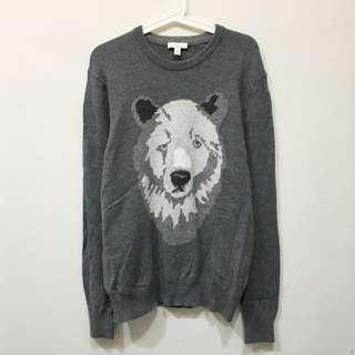 🚚 🐻灰熊動物針織毛衣🐻Men L
