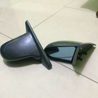 spoon side mirror + black carbon + tinted blue