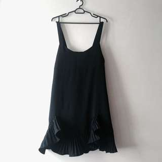 Little Black Dress With Ruffle