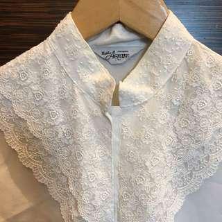 日本古著 蕾絲襯衫