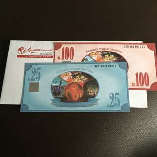 RWS Voucher $125 Selling For $100