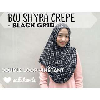 Shyra Crepe Printed Instant Double Loop Shawl