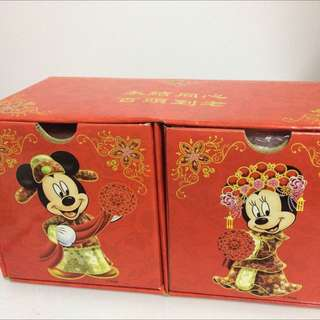 迪士尼米奇老鼠及米莉結婚紀念杯套裝 Disney Mickey & Minnie Mouse Wedding Mug