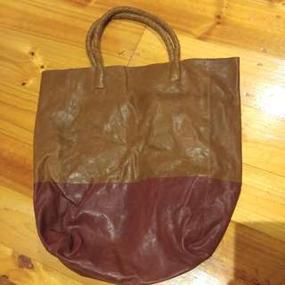 Trenery - Genuine Leather Tote Bag
