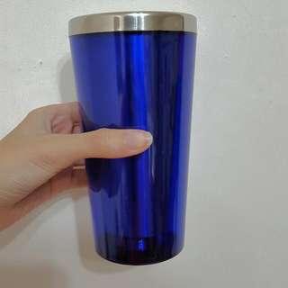 藍色保溫杯