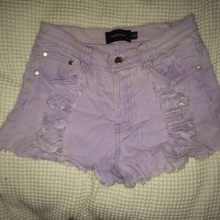 Mink Pink High Waisted Shorts