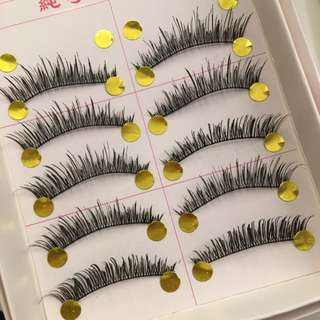 5 Pairs Natural and Full False Eyelashes/falsies #162