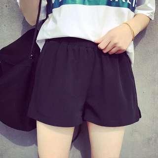 (預購)簡約雪紡短褲