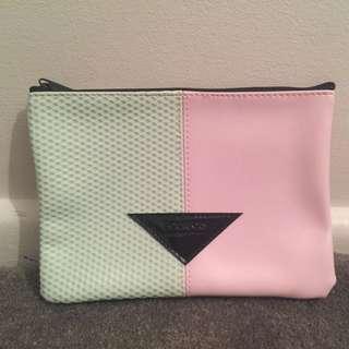 Pastel Pink And Mint Bourjois Paris Clutch/Makeup Bag