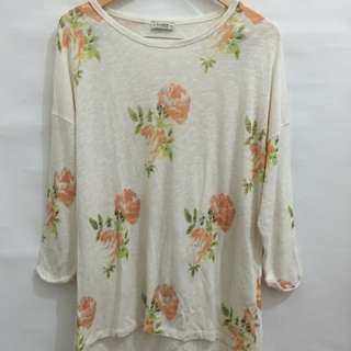 Pull & Bear Ashley Floral Sweater