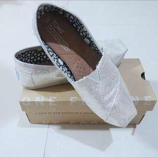 Toms女鞋 經典亮片銀
