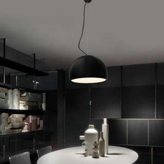 BALTER Dome Pendant Lamp in Black (15cm)