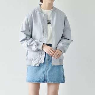 (保留@liao_w)韓國ma1飛行外套💕💕灰藍
