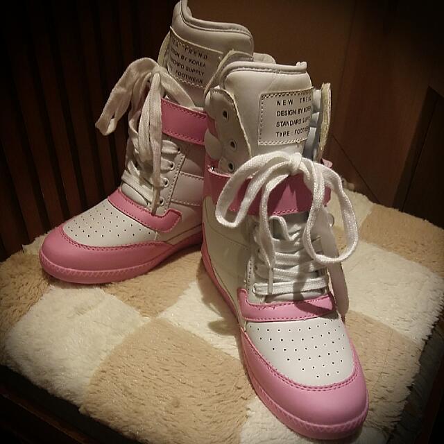 全新37版偏小一號甜美增高鞋