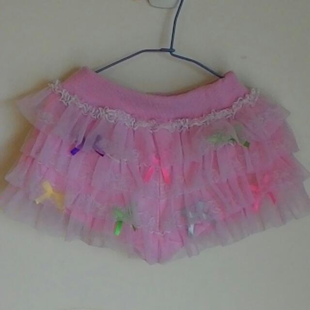蛋糕紗裙褲
