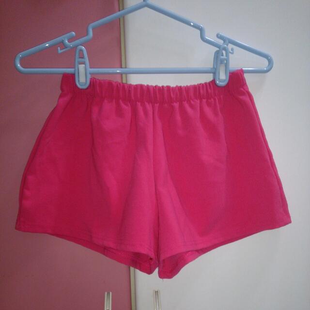 韓貨桃紅短褲