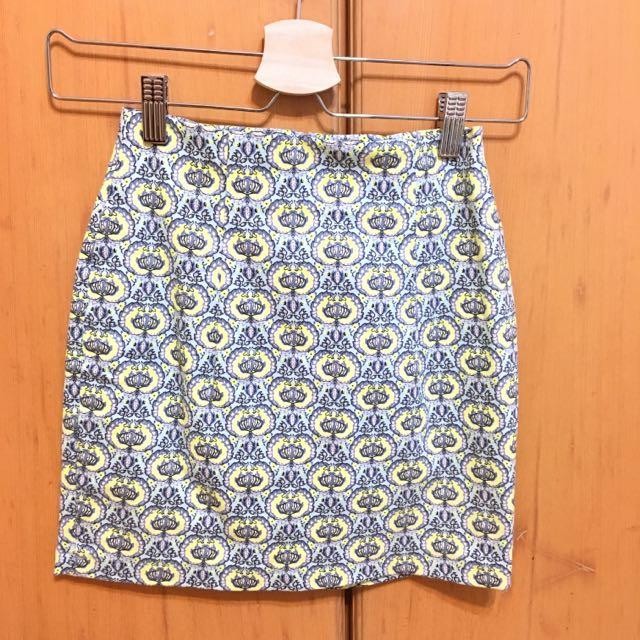 合身幾何圖形窄裙