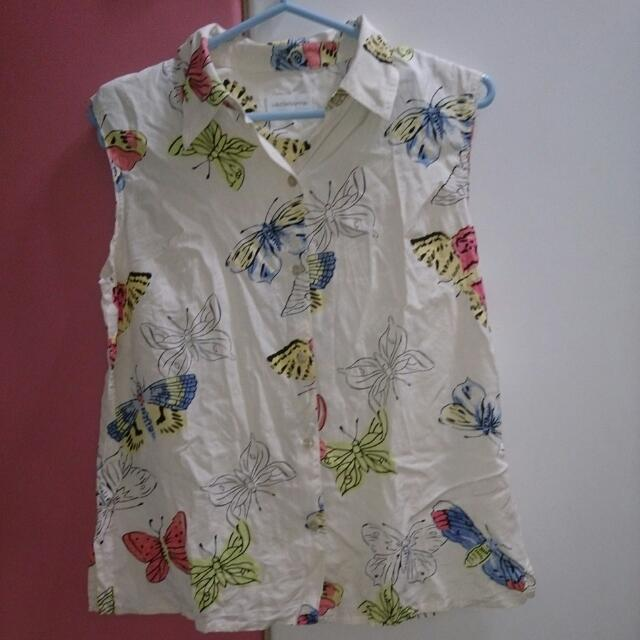 古著 蝴蝶襯衫