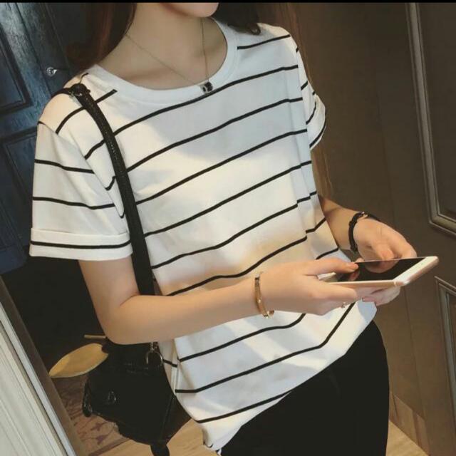 韓系不敗條紋短袖上衣✨ 經典百搭款短版短袖上衣😏