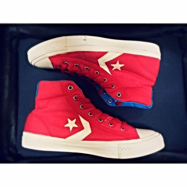 ::繽紛復古::All Star 紅藍白配色 Converse球鞋 SP EV MID VARSITY