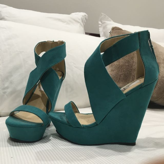 Aqua Green Wedges