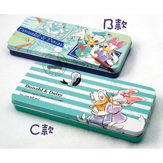 【日貨】迪士尼唐老鴨&黛西系列鐵製筆盒-B、C款 鐵筆盒 萬用盒 收納盒