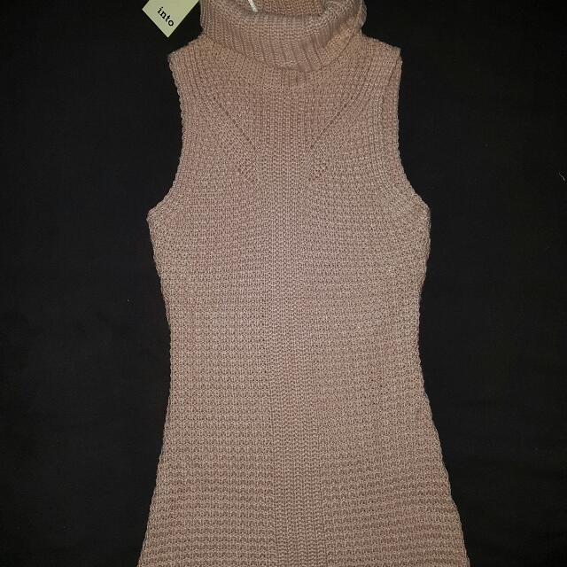 Brand New Pale Pink Knit Dress Size S/M