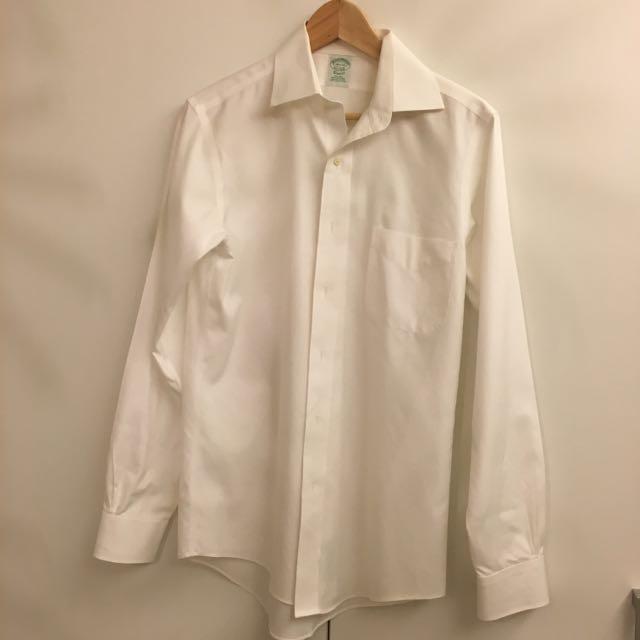 Brooks Brothers白色fit 襯衫