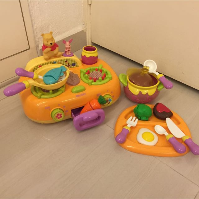 Disney Tomy Winnie The Pooh Kitchen Cooker Hobbies Toys Toys Games On Carousell