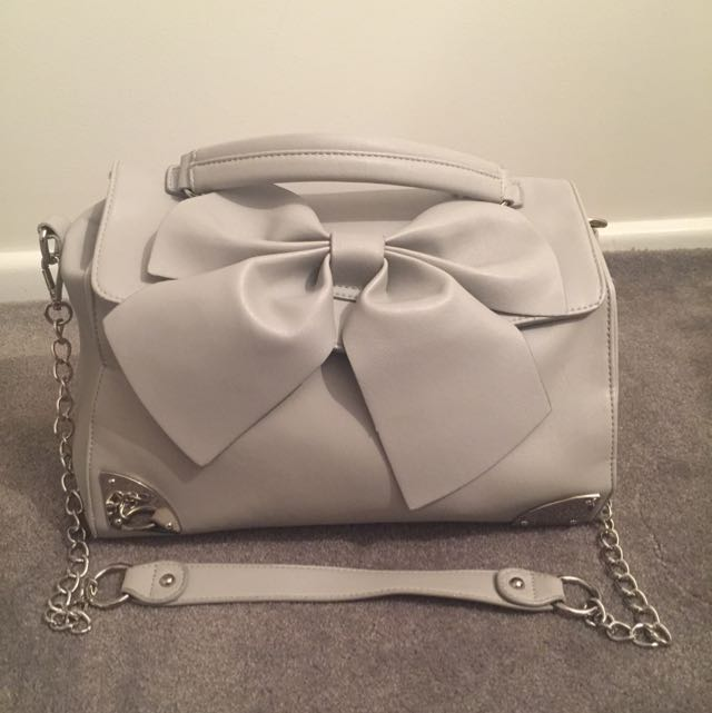 Grey Forever New Long Chain Bag