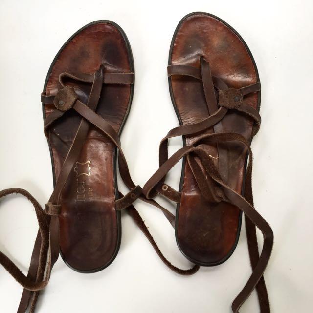 Fashion Leather Greek SandalsWomen's Handmade On Carousell j35ALR4q