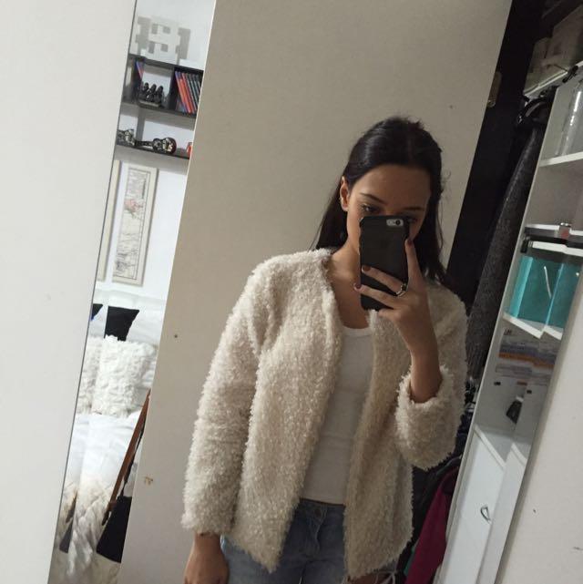 H&M fluffy cardigen